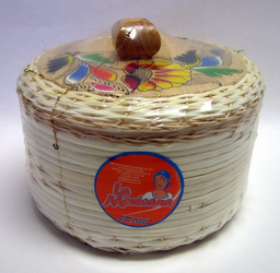 Tortillero de Mimbre Pintado / Painted Wicker Tortilla Warmer