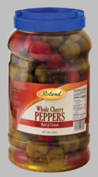 Whole Cherry Peppers Red and Green by Roland