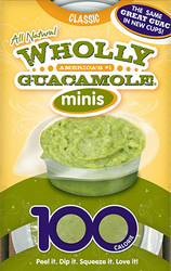 Guacamole Organic by Wholly Guacamole Brand Minis 2 oz
