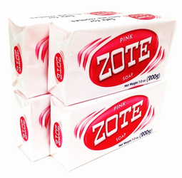 Zote Pink Laundry Soap Bar (Pack of 4)