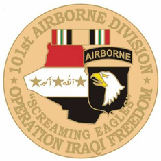 "101st Airborne 1 1/8"" Operation Iraqi Freedom Lapel Pin"