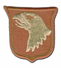 "101ST AIRBORNE 2¼"" DESERT MILITARY PATCH"
