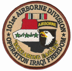 "101st Airborne 4"" Operation Iraqi Freedom Patch"