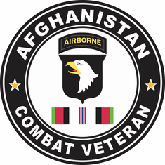 101st Airborne Division Afghanistan Campaign with ribbon