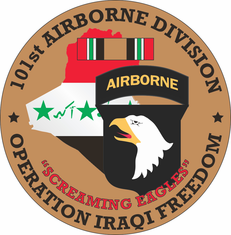 101st Airborne Division OIF Decal