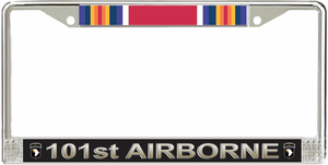 101st Airborne Division WW2 Veteran Service Ribbon License Plate Frame