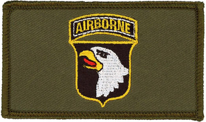101st Airborne Hook and Loop OD Green Patch