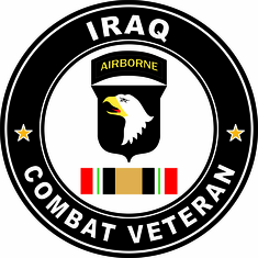 101st Airborne Iraq Sticker Combat Veteran Operation Iraqi Freedom OIF Decal Sticker
