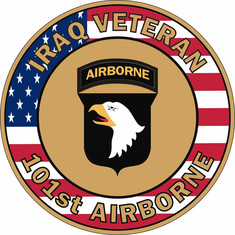 101st Airborne Iraq Veteran with USA Flag Decal