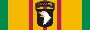 101st Airborne Vietnam Ribbon Sticker Decal