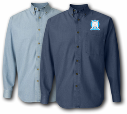 102nd Arcom Division Unit Crest Denim Shirt