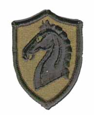 "107TH ARMORED CAVALRY REGIMENT 2¾"" SUBDUED MILITARY PATCH"