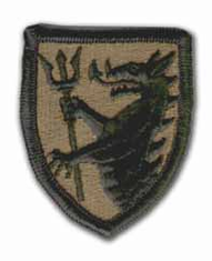 "108TH ARMORED CAVALRY REGIMENT 2½"" SUBDUED MILITARY PATCH"