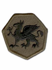 "108TH TRAINING DIVISION SUBDUED 2½"" MILITARY PATCH"