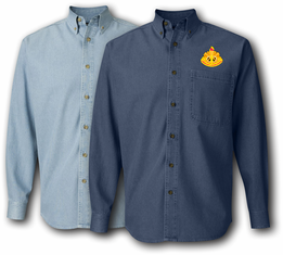 108th Training Division Unit Crest Denim Shirt