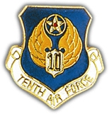 10th Air Force Shield Lapel Pin