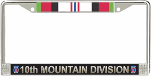 10th Infantry Division Afghanistan Veteran Service Ribbon License Plate Frame