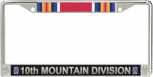 10th Infantry Division WW2 Veteran Service Ribbon License Plate Frame