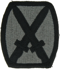 10th Light Infantry Division ACU Velcro Patch