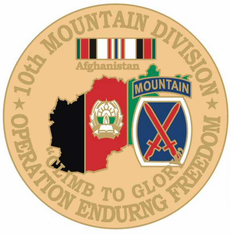"10th Mountain 1 1/8"" Operation Enduring Freedom Lapel Pin"