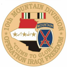 "10th Mountain 1 1/8"" Operation Iraqi Freedom Lapel Pin"