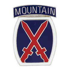 10th Mountain Division Lapel Pin