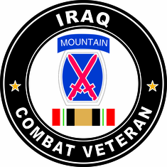 10th Mountain Division Iraq Combat Veteran Operation Iraqi Freedom OIF Sticker Decal