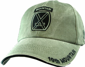 10th Mountain Division OD Green Cap