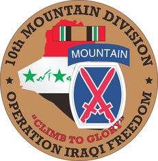10th Mountain Division OIF Decal
