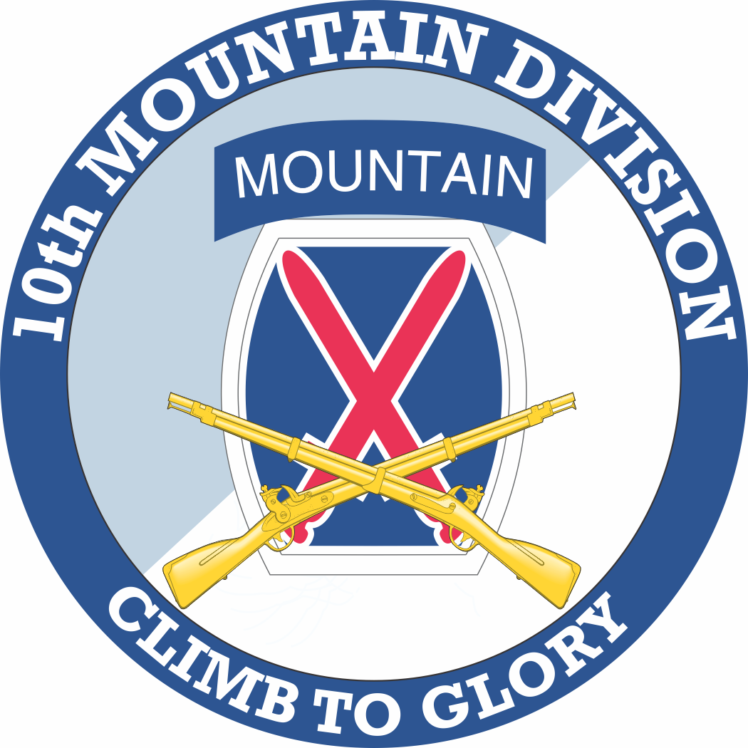 10th Mountain Division With Crossed Rifles Decal