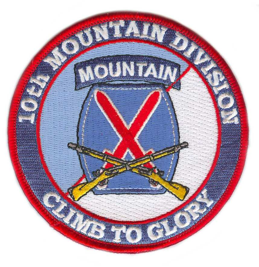 10th Mountain Division (with Rifles) Patch