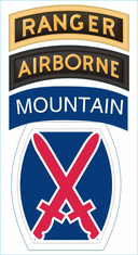 10th Mountain Division Ranger Airborne Decal