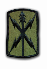 "1107TH SIGNAL BRIGADE SUBDUED 3"" MILITARY PATCH"