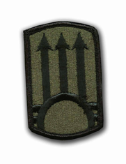 "111TH A.D.A. SUBDUED  2 7/8"" MILITARY PATCH"