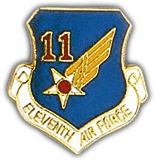 11th Air Force Shield Lapel Pin