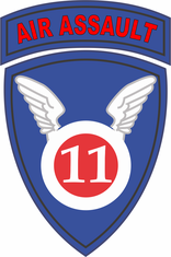 11th Airborne Division Air Assault Decal