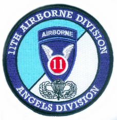 11th Airborne Division with Jump Wings Patch