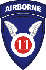 11th Airborne Division Window Decal Sticker