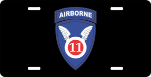 11th Airborne Window License Plate