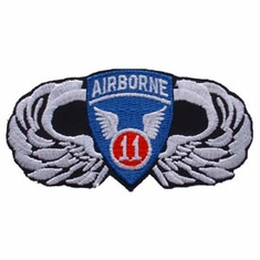 "11th Airborne with Wings 4 1/2"" Patch"