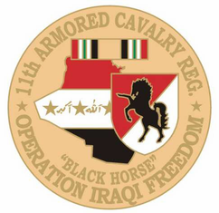 "11th Armored Cavalry 1 1/8"" Operation Iraqi Freedom Lapel Pin"
