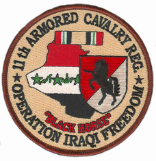 "11th Armored Cavalry 4"" Operation Iraqi Freedom Patch"