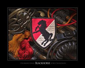 11th Armored Cavalry- Blackhorse- Formal- Giclee Print