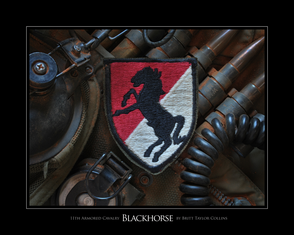 11th Armored Cavalry- Blackhorse- Tactical- Giclee Print