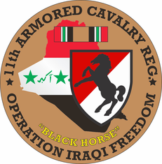 11th Armored Cavalry OIF Decal