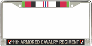 11th Armored Cavalry Regiment Afghanistan Veteran License Plate Frame