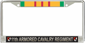 11th Armored Cavalry Regiment Vietnam Veteran License Plate Frame