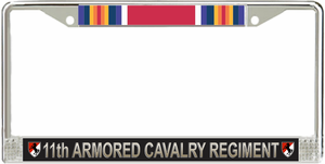 11th Armored Cavalry Regiment WW2 Veteran License Plate Frame