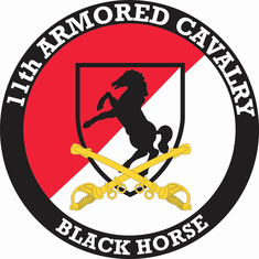 11th Armored Cavalry with Sabres Decal
