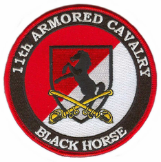 11th Armored Cavalry (with Sabres) Patch